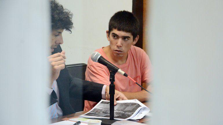 Diego Bombo Oyarzo cuando fue absuelto por el crimen del puntero.