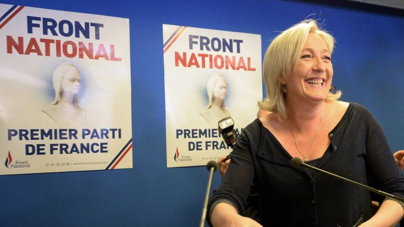La candidata ultranacionalista Marine Le Pen