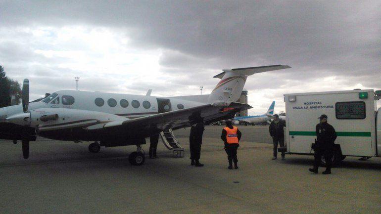 Un vuelo sanitario del SIEN en conjunto con el hospital de Villa La Angostura.