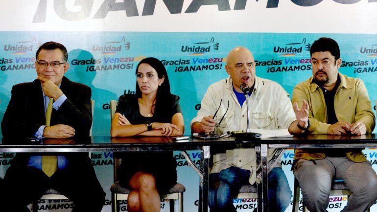 Los líderes de la Mesa de Unidad Democrática