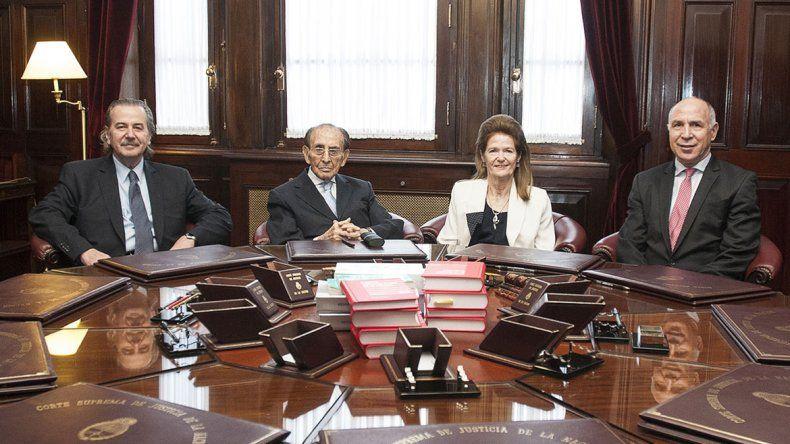 El miércoles durante el último acuerdo de Fayt antes de dejar la Corte.
