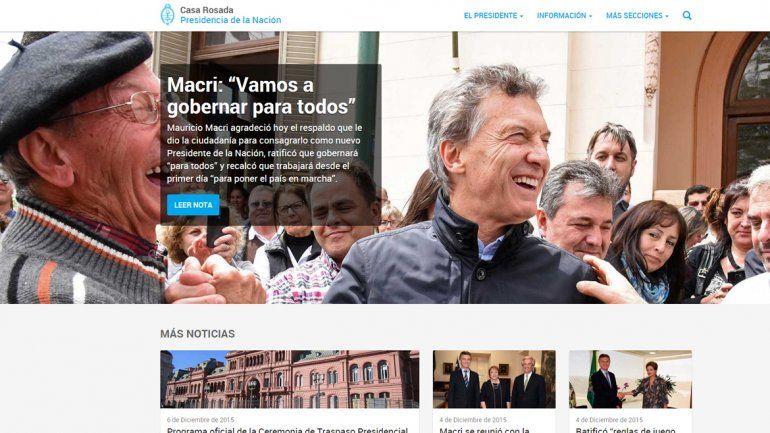 Presentaron la nueva web de la Casa Rosada