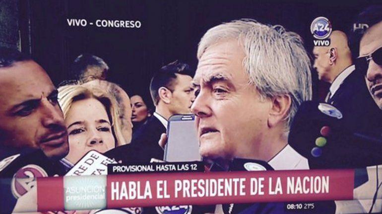Pinedo consideró lamentable que los legisladores del FpV no asistan a la asunción de Macri