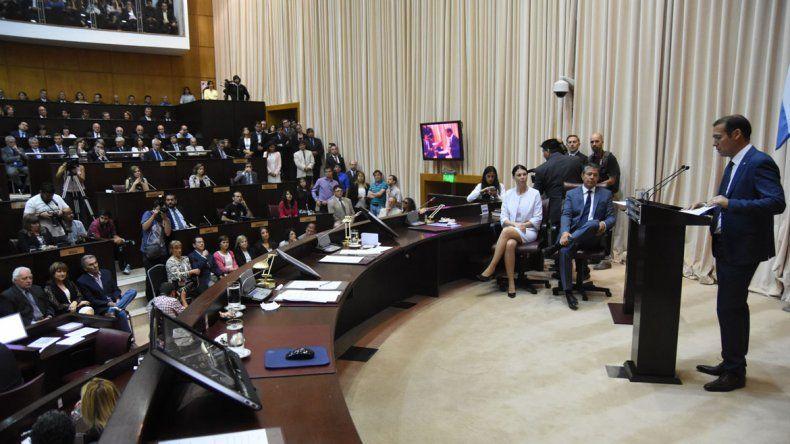 Asumió Omar Gutiérrez y brindó sus palabras en la Legislatura.