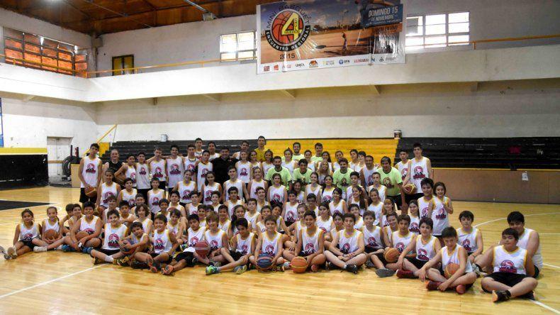 103 chicos participaron del Campus que se realizó en el club Pacífico.