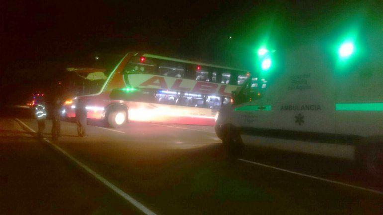 Sin heridos al chocar un camión contra un colectivo en la Ruta 237