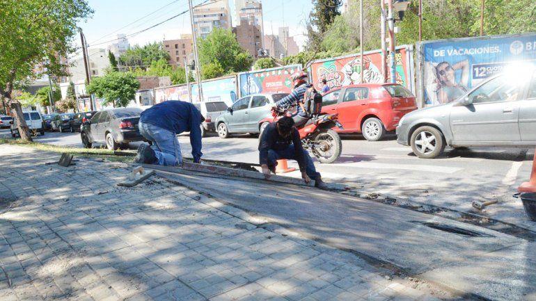 Serán 14 las rampas construidas en las calles más transitadas del centro.