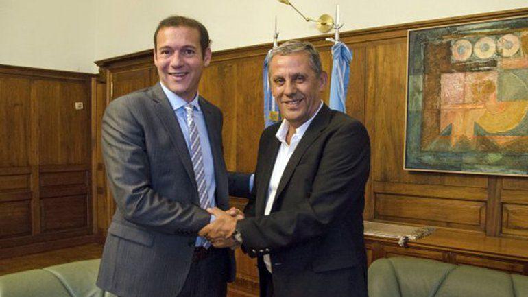 Gutiérrez junto a Pechi Quiroga.