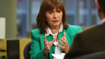 Patricia Bullrich, ministra de Seguridad.