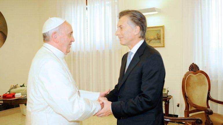Macri junto al Santo Padre en su última visita al Vaticano.