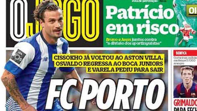 La tapa del diario que anuncia que Osvaldo vuelve al Xeneize.