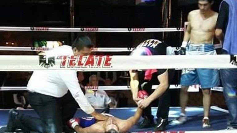 La pelea la terminé con un gancho al abdomen