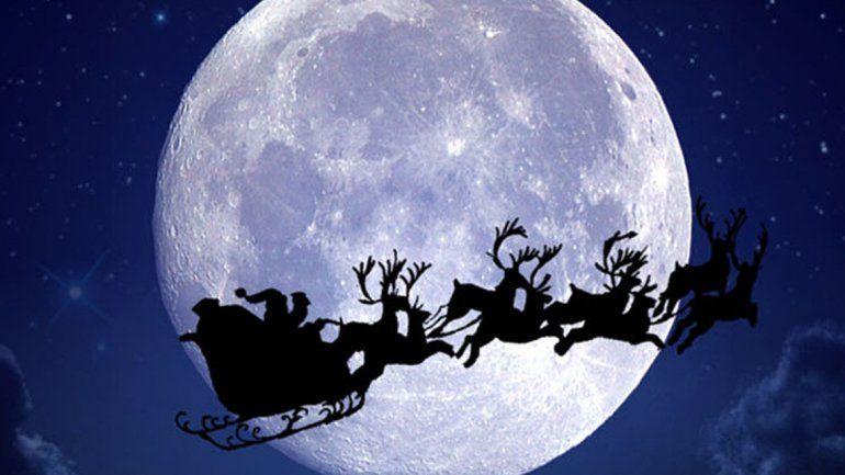Luna a pleno en una noche de magia y de regalos.