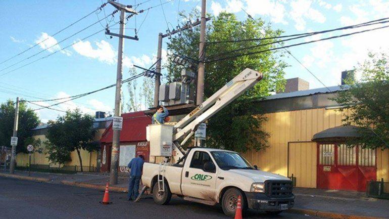 Calf realizará cortes de luz mañana y el miércoles en algunos barrios