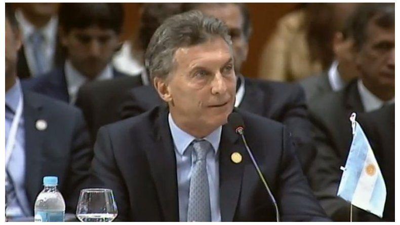 Macri en el Mercosur pidió la liberación de los presos políticos de Venezuela