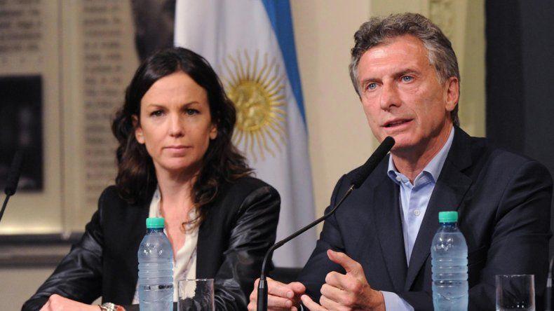 Mauricio Macri y la ministra de Desarrollo Social