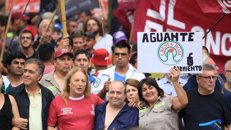 Marcha en Plaza de Mayo.