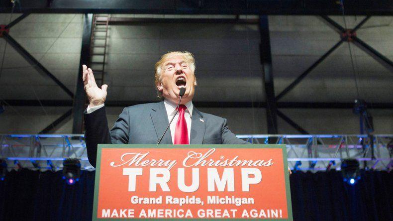 Donald Trump durante un acto de campaña.