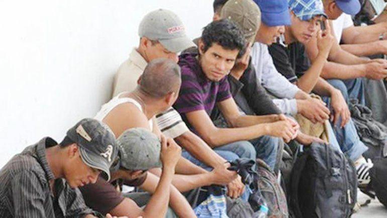 Migrantes salvadoreños sin papeles en Estados Unidos.