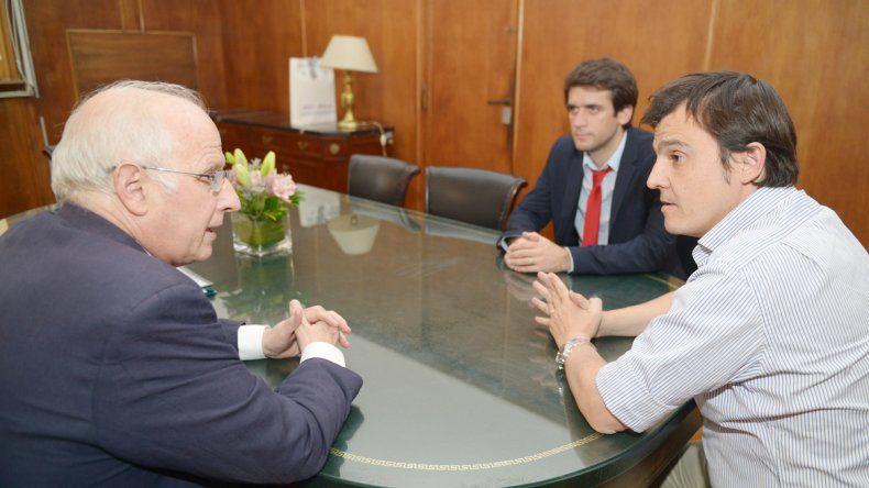 El ministro José Brillo mantuvo reuniones con Santiado Hardie y Hugo Rossi