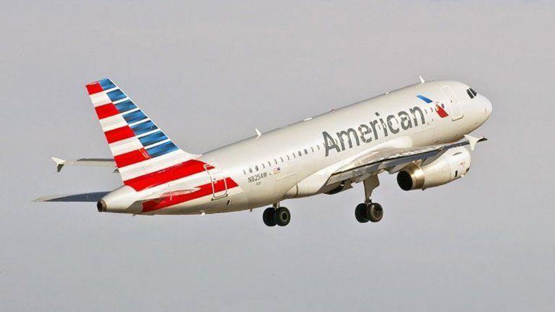 Un avión de American