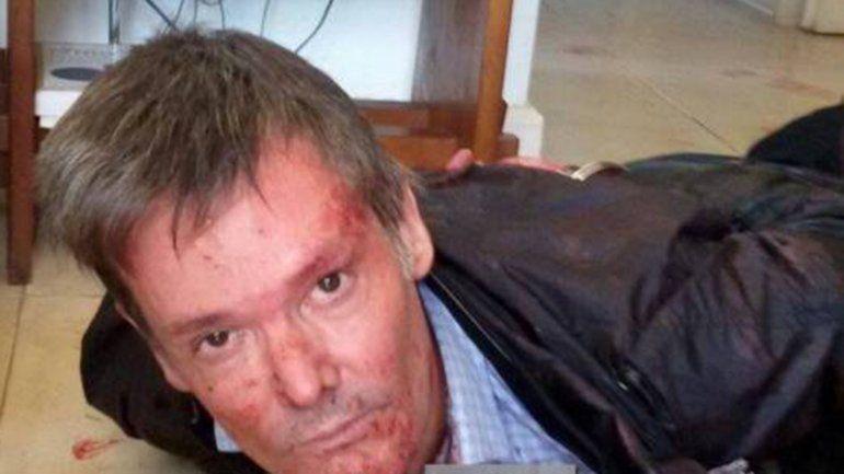 Fernando Farré cuando fue detenido por el crimen a su esposa Claudia Schaefer.