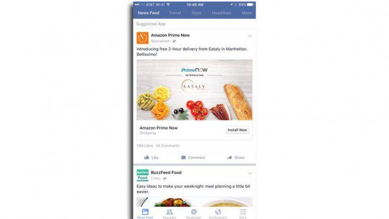 La app simula ser un diario con distintas secciones.