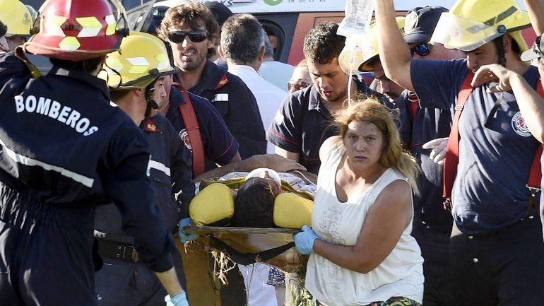 Los heridos fueron retirados del lugar en helicóptero.