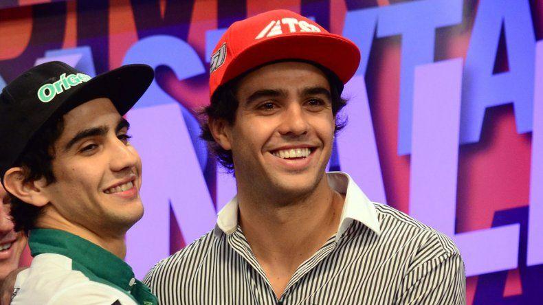 La conocida rivalidad deportiva no impidió que los ídolos de la región se mostraran juntos en la previa de la carrera en Centenario.