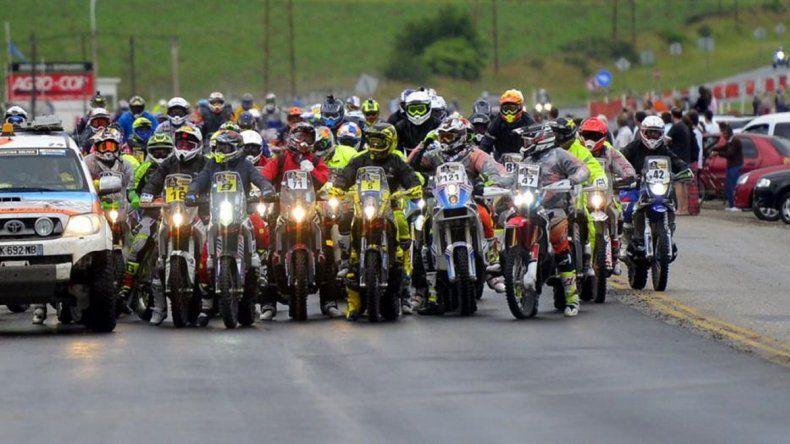La caravana de las motos rumbo a Carlos Paz.