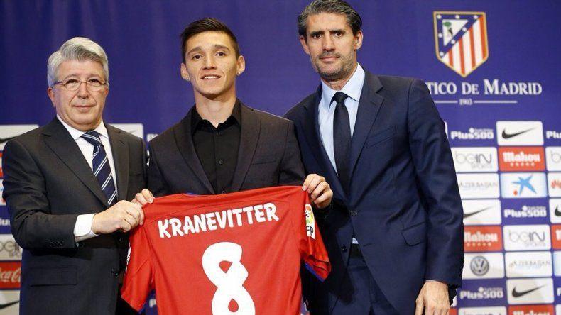El Atlético Madrid presentó a Kranevitter: Es una gran desafío
