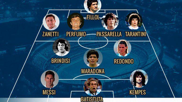La AFA armó la Selección Argentina ideal de todos los tiempos
