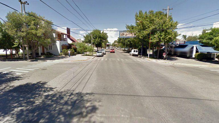 El accidente se registró en el ingreso al barrio Manzanar de Cipolletti.