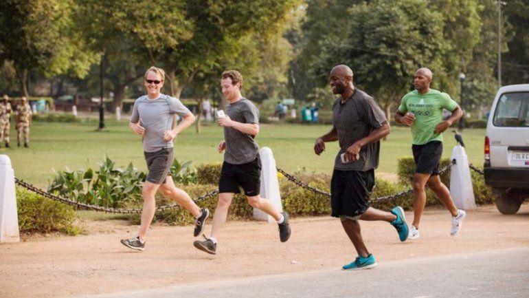 Con esta imagen corriendo en Delhi intenta motivar a todos.