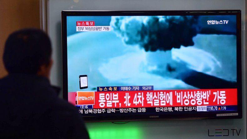 La TV norcoreana difundió imágenes de los supuestos ensayos con la bomba de hidrógeno.