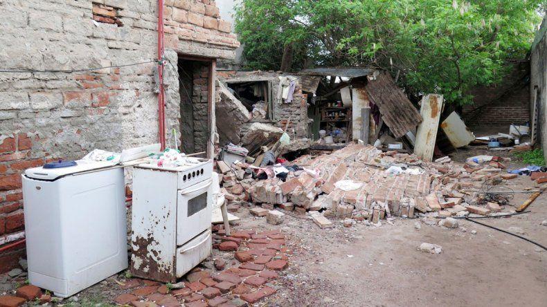 El estado en el que quedó la vivienda a causa del temporal.