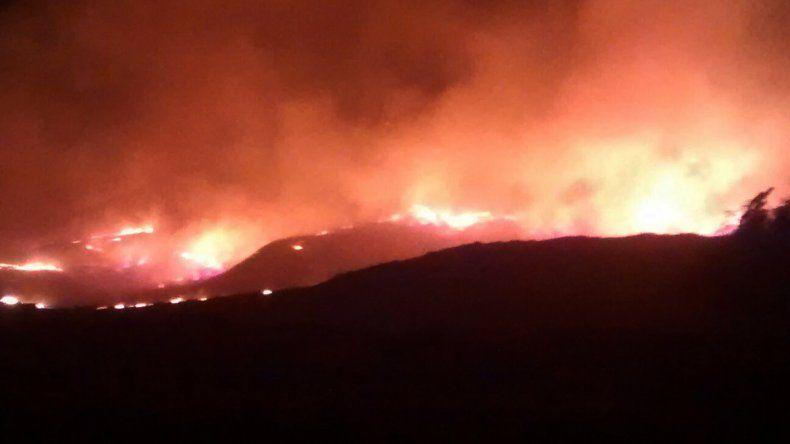 Incendios cerca de Piedra el jueves a la mañana.