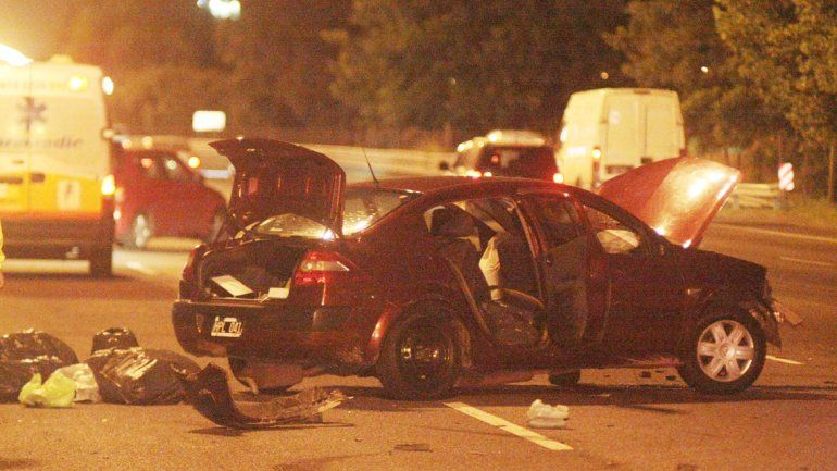 Estado en el que quedó uno de los vehículos involucrados en la colisión.