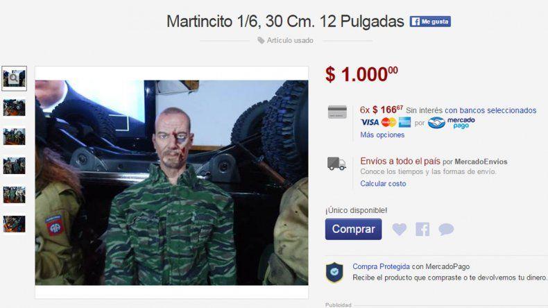 Viveza criolla: venden por internet el muñeco de Martín Lanatta