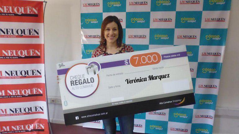 Con LM Neuquén, Verónica ganó 7000 pesos para gastar en el shopping