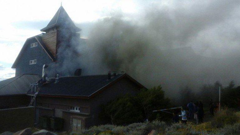 Se incendia el hotel de Cristina en El Calafate
