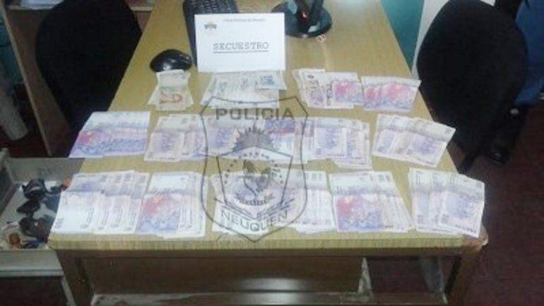 El dinero robado pudo serrecuperado por la Policía.
