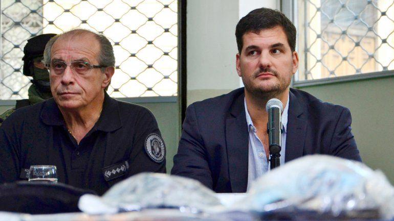 Arriba: Eugenio Burzaco. Abajo: el video que mandaron a analizar cuando temían un doble arresto.