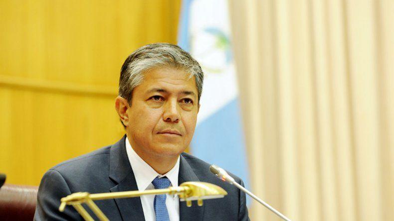 El vicegobernador y presidente la Legislatura provincial