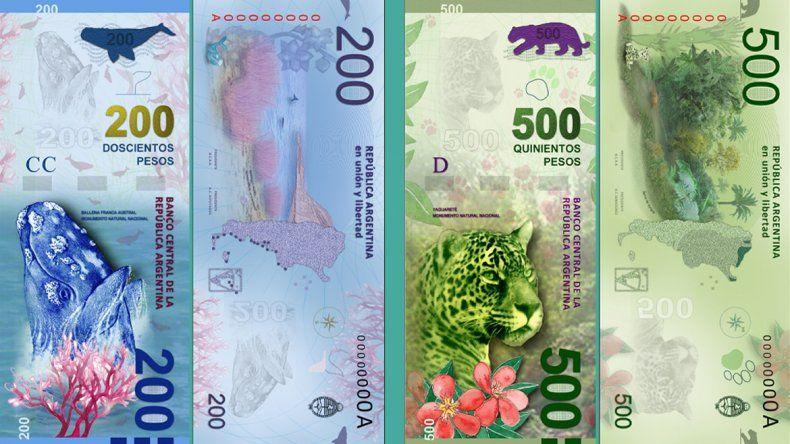 Desde mitad de año, habrá billetes de 200 y 500 pesos