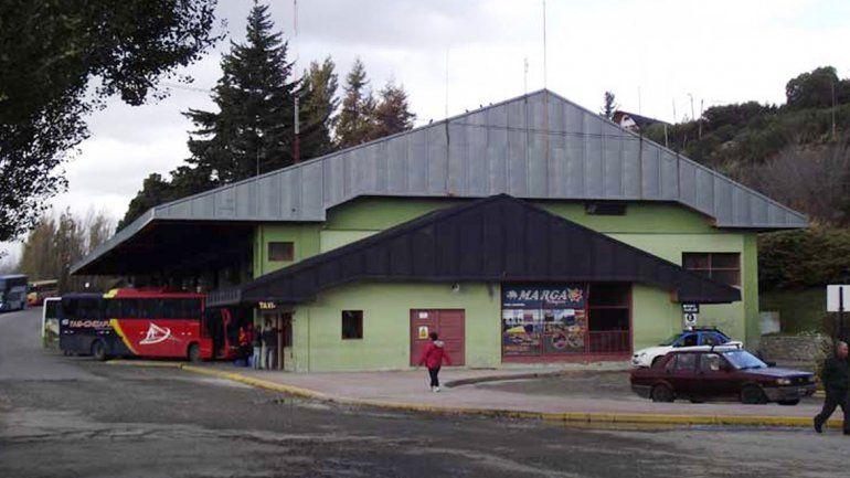 El colectivo llegó el jueves a las 12:15 a la terminal de Bariloche