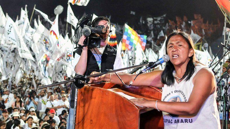 Milagro Sala envió una carta a los que acampan en Plaza de Mayo