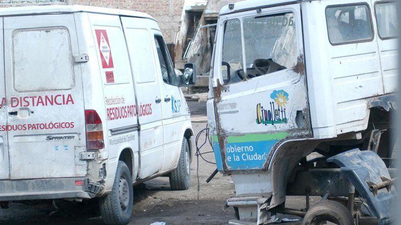 Hace un tiempo el parque automotor de recolección de residuos patológicos y domésticos estaba muy deteriorado. Muestra de las carencias del sistema.