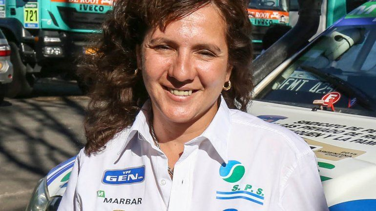 Alicia Reina. Piloto del rally Dakar de Catriel