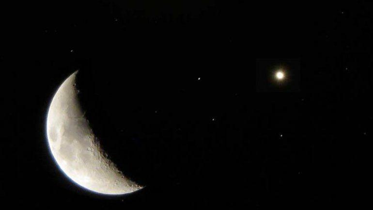 El acercamiento de la Luna y una estrella gigante se verá en Neuquén